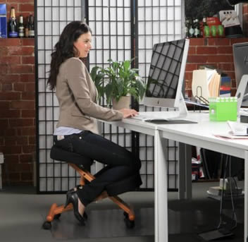 Jobri™ Wood Accent Kneeling Chair